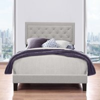 Hillsdale Furniture La Croix Platform Bed, Tufted Headboard, Multiple Sizes and Multiple Colors