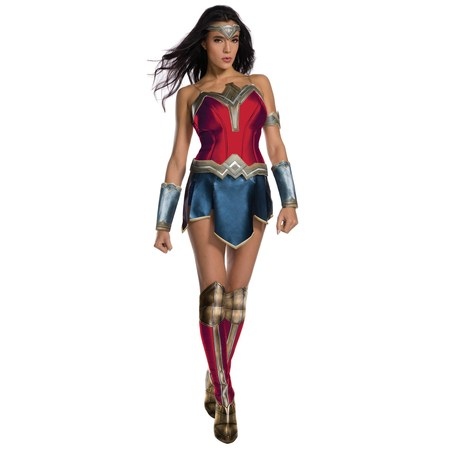 Justice League Womens Secret Wishes Wonder Woman Costume (Farmer Woman Costume)