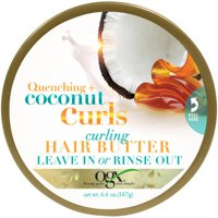 OGX Quenching Coconut Curls Curling Hair Butter 6.6 oz. Jar