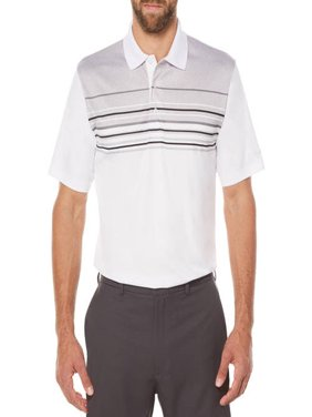 Big Men's Performance Short Sleeve Stripe Golf Polo Shirt