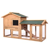 "Jaxpety 58"" Chicken Coop Backyard Hen Wooden Rabbit House Wood Hutch w/Run"