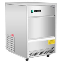 Costway Commercial Automatic Ice Maker Machine 70lbs/24h Stainless Steel Freestanding