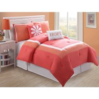 VCNY Home Hotel Juvi Kids 4/5 Piece Bedding Comforter Set, Decorative Pillows Included, Multiple Colors Available