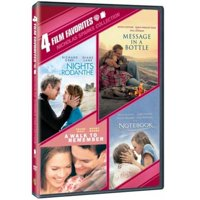 4 Film Favorites: Nicholas Sparks Romances - Nights In Rodanthe / The Notebook / Message In A Bottle / A Walk To Remember (DVD) (Walmart Exclusive)