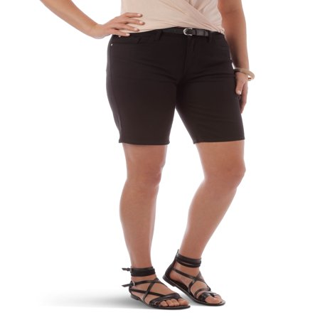 Ladies Bermuda Shorts - Women's Belted Bermuda Short