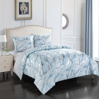 Your Zone Metallic Marble Comforter Set