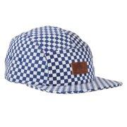 26d2bd0475a Vans Off The Wall Men s Davis 5 Panel Camper Hat Cap - Blue White Checkered