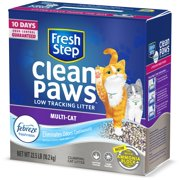 Fresh Step Clean Paws Multi-Cat Scented Litter with the Power of Febreze, Clumping Cat Litter, 22.5 lbs
