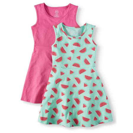 Short Sleeve Play Dress, 2-Pack (Little Girls, Big Girls & Big Girls Plus)
