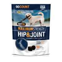 35% Off New Year Special! VetIQ Maximum Strength Hip & Joint Supplement for Dogs, 90 Count