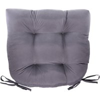 Mainstays Faux Suede Chair Pad Gray