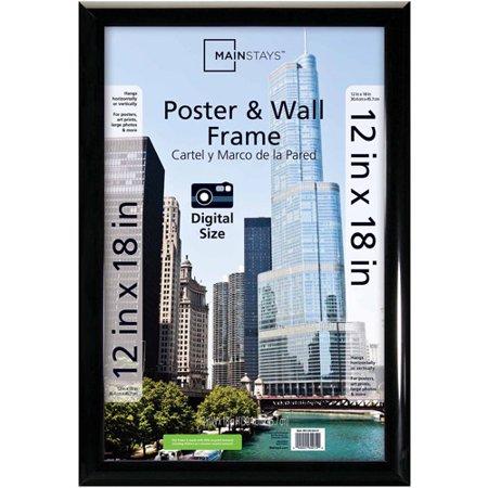 Mainstays 12x18 Trendsetter Poster Frame Black Walmartcom