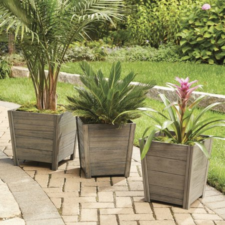 Better Homes And Gardens Cane Bay Outdoor Planter Large Walmart Com