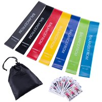 BalanceFrom Resistance Loop Exercise Bands with Exercise Cards and Carrying Bag, Set of 7