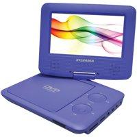 """Sylvania SDVD7027 Portable DVD Player - 7"""" Display - Purple SDVD7027 PURPLE"""