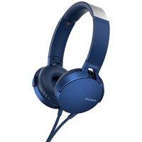 Sony XB550AP EXTRA BASS On-Ear Headphones (Blue)