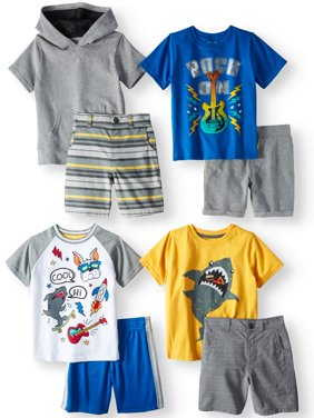 Garanimals Mix & Match Outfits Kid-Pack Gift Box, 8pc Set (Toddler Boys)