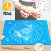 Silicone Baking Mats with Measurements,Large Silicone Pastry Mats BPA Free Food Grade Silicone Rolling