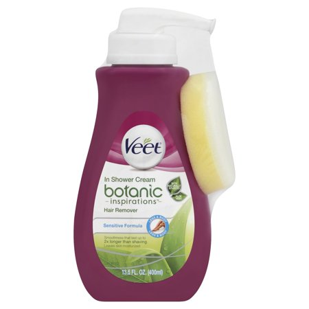 Veet Botanic Inspirations In Shower Cream, 13.5 fl Oz., for Legs &