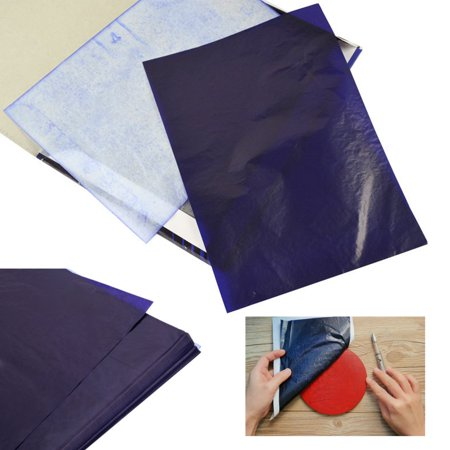 - 100 Sheets A4 Dark Blue Carbon Transfer Tracing Paper for Wood, Paper, Canvas and Other Art Surfaces