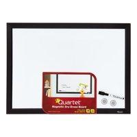 "Quartet Magnetic Dry-Erase Board, 17"" x 23"", Black Frame (MWDW1723M-BK)"