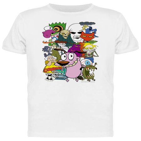 Courage The Cowardly Dog Characters Graphic Men's T-shirt](Courage The Cowardly Dog Halloween)
