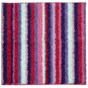 Your Zone Striped Shag Rug, Pink