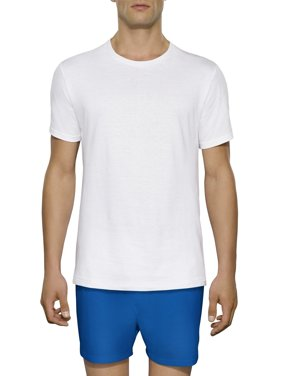 Tall Men's Collection White Crews Extended Sizes up to 3XLT, 3-Pack