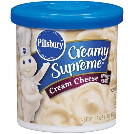 (4 Pack) Pillsbury Creamy Supreme Cream Cheese Frosting 16 OZ