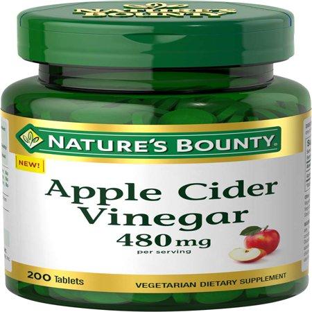 Nature's Bounty® Apple Cider Vinegar, 480 mg, 200 Tablets