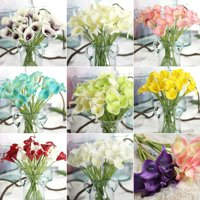 Girl12Queen 1Pc Artificial Calla Lily Flower Bridal Bouquet Wedding Home Romantic Decor
