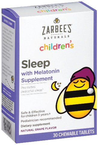 Zarbee's® Naturals Children's Sleep with Melatonin Chewable Tablets, Grape 30 ct