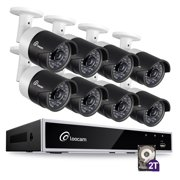 Loocam 8-Channel HD-TVI 1080P Video Security DVR Surveillance Camera Kit and 8 PCS 2.0MP Indoor /Outdoor IR Weatherproof Camera 150FT Night Vision with IR Cut (2TB Hard Drive)
