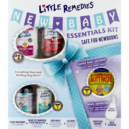 Little Remedies New Baby Essentials Kit, Perfect for Baby Shower (Best Remedy For Asthma)