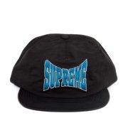 821b77ea Supreme Nylon Logo SnapBack 5-Panel Hat Black/Blue SS16H61
