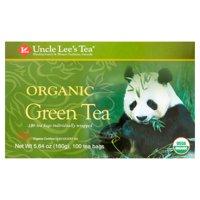 Uncle Lee's Tea, Organic Green Tea, 100 Ct
