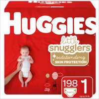 HUGGIES Little Snugglers Diapers Size 1, 198 ct