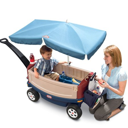 Little Tikes Deluxe Ride & Relax Wagon with - Red Wagon Toy