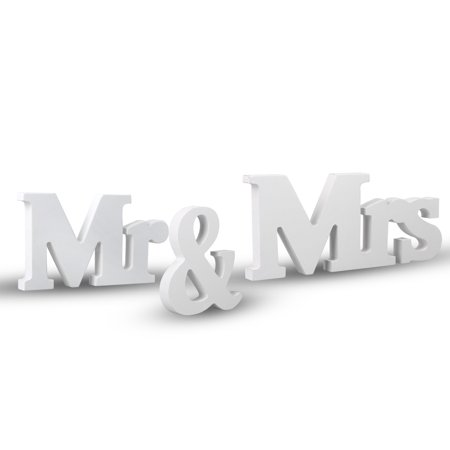 TSV Vintage Style Mr and Mrs Sign Mr & Mrs Wooden Letters Wedding Sign with Silver Glitter for Christmas Decorations, Wedding Table, Photo Props, Party Table, Top Dinner Decoration - Vintage Valentine Decorations