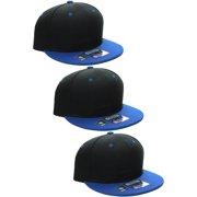D I Classic Blank Snapback Flat Bill Visor Hat Cap w Adjustable Snap Back fa3f7b366a1