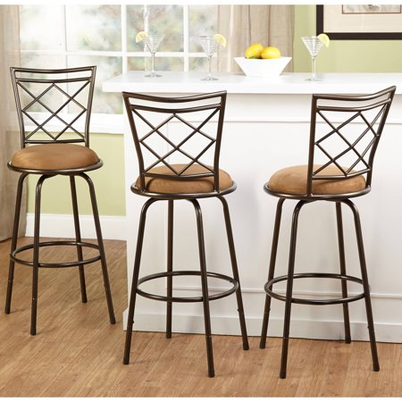 TMS Avery Adjustable-Height Bar Stool, Multiple Colors, Set of 3 Black Cherry Bar Stools