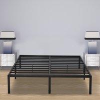 GranRest 14'' Black Metal Platform Bed, Multiple sizes