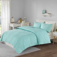 Your Zone Medallion Pompom Mini Quilt and Sham Set