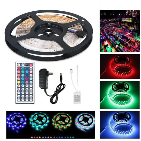 TSV 5-Meter Waterproof Flexible Color Changing RGB SMD5050 300 LEDs Light Strip Kit with 44 Key Remote and 12V 5A Power Supply](Led Light Supplies)