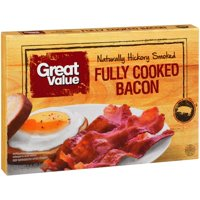 Great Value Fully Cooked Naturally Hickory Smoked Bacon, 2.1 Oz.