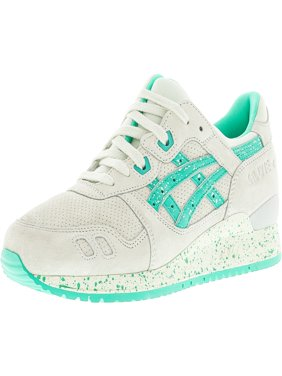 Asics Men's Gel-Lyte Iii Lily White / Aqua Green Ankle-High Leather Running Shoe - 8M