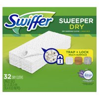 Swiffer Sweeper Dry Sweeping Pad Multi Surface Refills for Dusters Floor Mop, Lavender Vanilla & Comfort, 32 Count