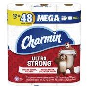 Charmin Ultra Strong Toilet Paper 12 Mega Roll, 286 sheets per roll