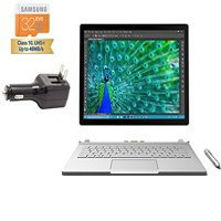 """2015 Tablet of the Year Microsoft Surface Book Tablet 2-in-1 Laptop 13.5"""" touch screen 3000x2000 3K 3:2 QHD Digitizer Stylus Pen Windows 10 Pro (Core i5-6300U 8GB 128GB SSD Laptop Only)"""