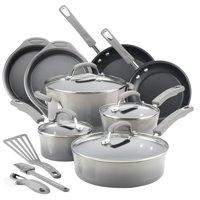 Rachael Ray 15 Piece Hard Enamel Aluminum Nonstick Cookware Set